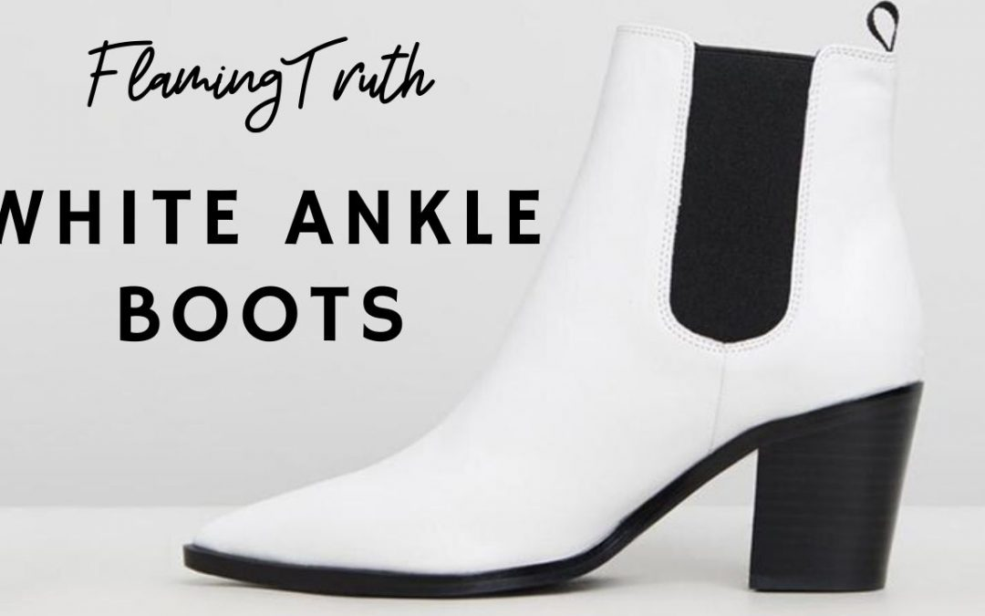 Choose Your Favorite Way To Wear White Ankle Boots